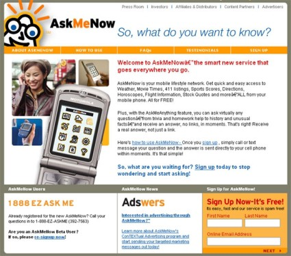 AskMeNow Service A Good 411 Replacement