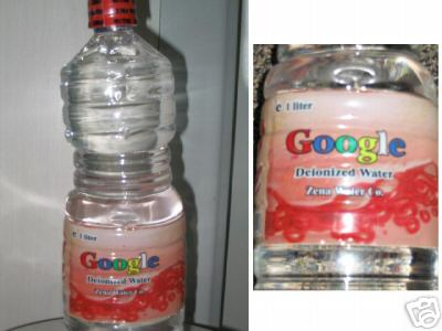 Bottled Google Water Being Sold On eBay