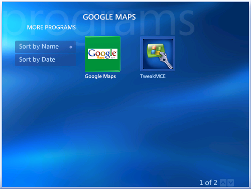 View Google Maps Using Windows Media Center