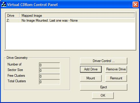 Microsoft Virtual CD-ROM Control Panel v2.0.1.1
