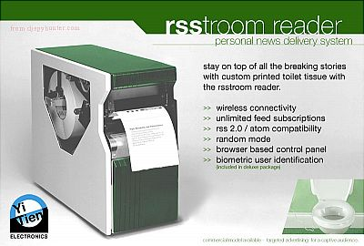 RSStroom RSS News Reader On Your Toilet Paper