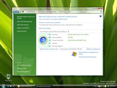 Microsoft Windows Vista 5270 System Properties
