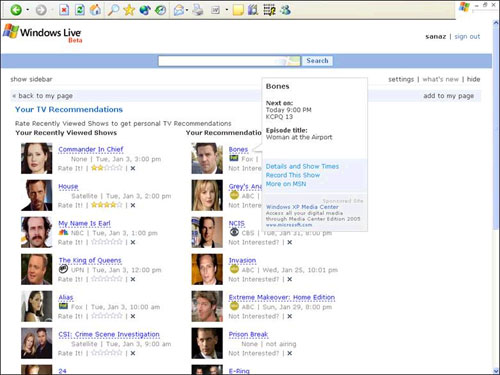 Record Your TV Shows Online Using Microsoft Windows Live.com