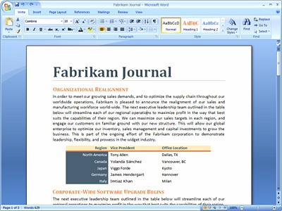 Microsoft Office 2007 Gets A Small Facelift