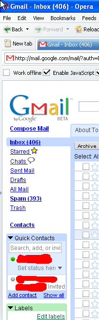 Using GMail Chat In The Latest Version Of Opera TP2