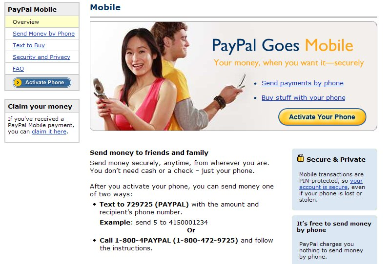 PayPal Mobile Has Now Launched