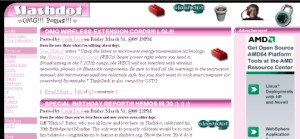 SlashDot Goes Pink