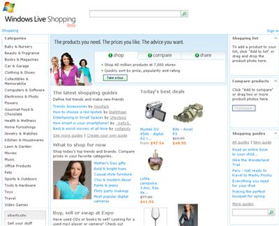 Windows Live Expo And Live Shopping Open To The Pubic