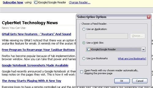 Firefox Changes The Way We Use RSS Feeds