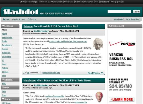 Slashdot Announces CSS Redesign Winner