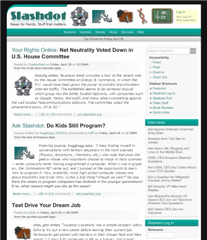 More SlashDot Redesigns -- This Round Is Much Better