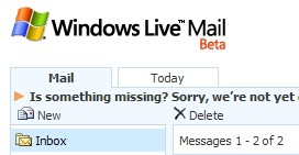 Windows Live Mail Takes A Big Step Backwards
