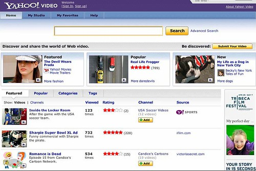 Yahoo Makes Video Site