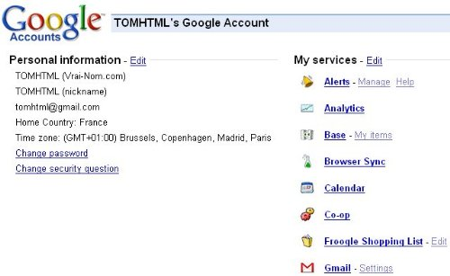 New Google Accounts Page Starts To Appear