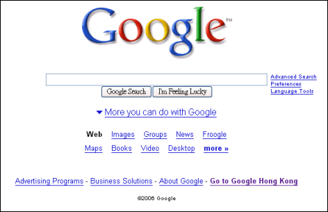 New Google Homepage Being Tested