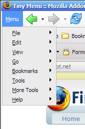How To Collapse Unused Menus In Firefox