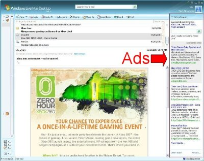 Windows Live Mail Desktop Gets Advertisements