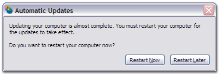 Get Rid Of The Annoying Windows Update Restart Prompt