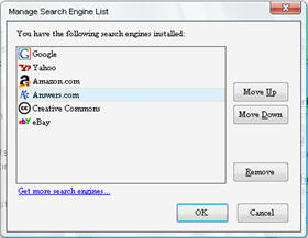 Firefox Search Engine Manager