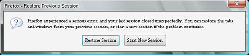 Firefox Session Restore