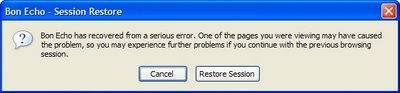 Firefox 2 Session Restore