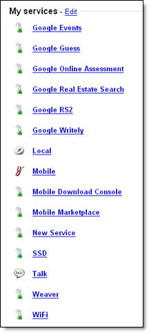 Hidden Google Services Get Revealed