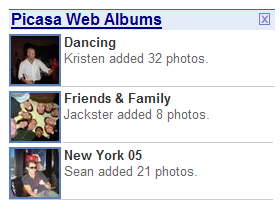 Put Picasa Web Albums On Your Personalized Homepage