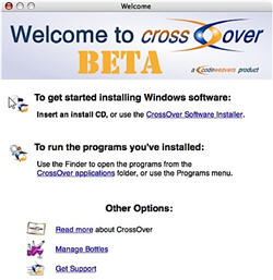 CrossOver Mac Beta