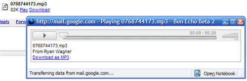 Play A MP3 In Gmail