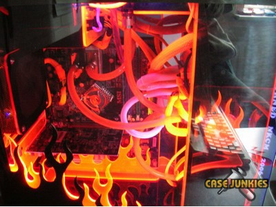 Flaming Computer Case Modification