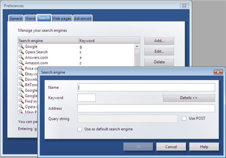 Opera Search Manager