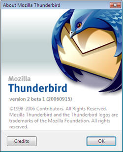 Thunderbird 2 Beta 1