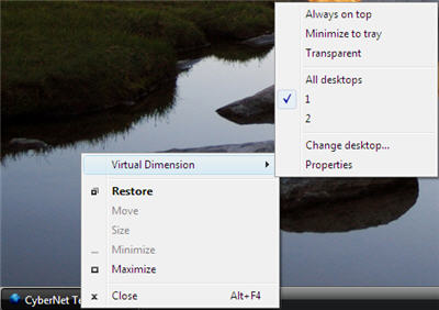 Virtual Dimension Right-Click Menu