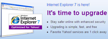 Internet Explorer 7 (Yahoo Version)