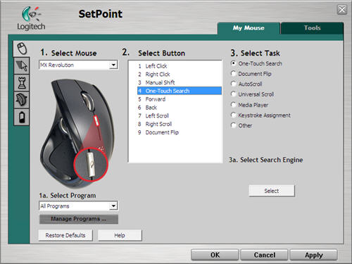 SetPoint Button Configuration