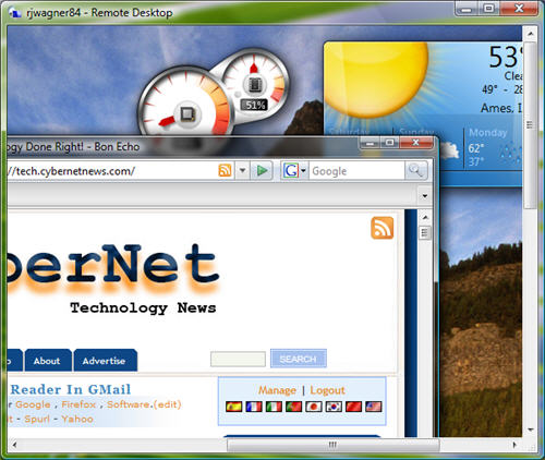 Vista's Remote Desktop