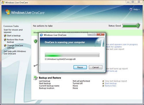 Windows Live OneCare On Vista