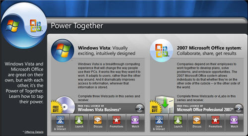 Free Vista & Office 2007