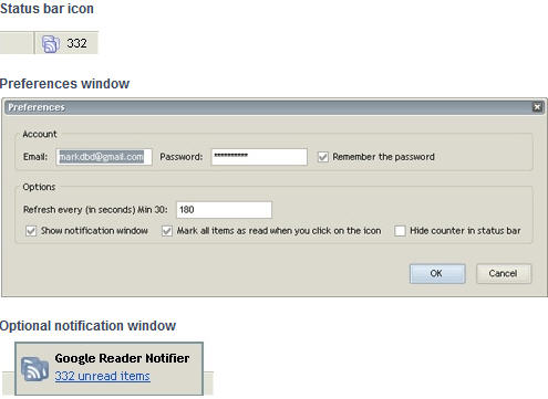 Google Reader Notifier For Firefox