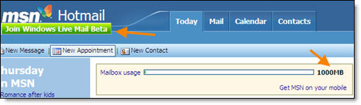 Hotmail 1GB