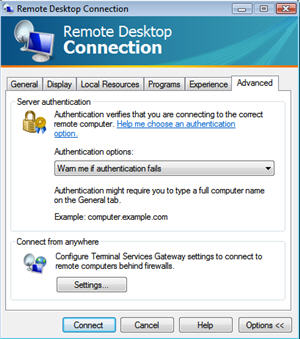 Vista Remote Desktop