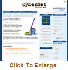 CyberNet Old Homepage