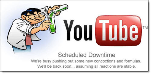 Looks like YouTube is currently down for some maintenance which will