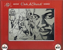 Michael Jordan Etch A Sketch