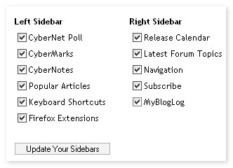 Customize the Sidebars