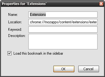 Firefox Sidebar for Extensions