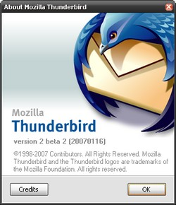 Thunderbird 2 Beta 2