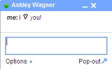 Gmail Chat Heart