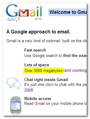 Gmail 5 Years