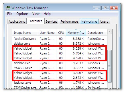 Yahoo Task Manager
